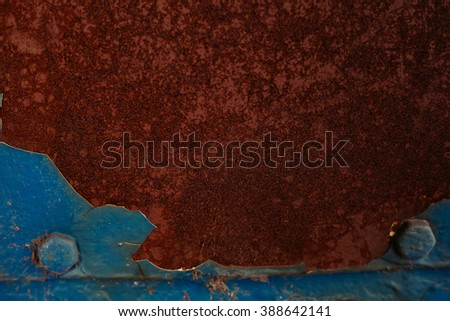 blue abstract grunge background, old metal background, rust