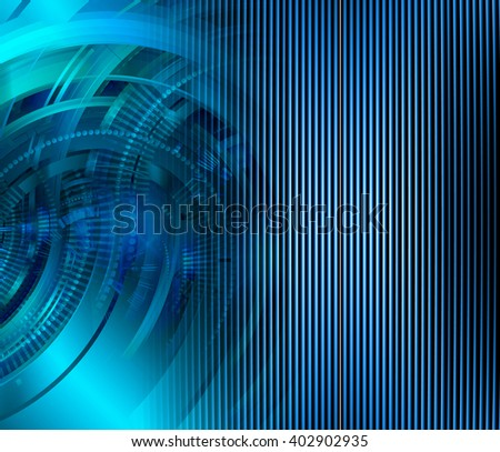 Blue abstract hi speed internet technology background illustration. eye scan virus computer - stock photo