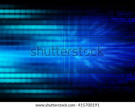 Blue abstract hi speed internet technology background illustration. eye scan virus computer. motion move. - stock photo