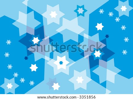 blue abstract jewish background with david stars