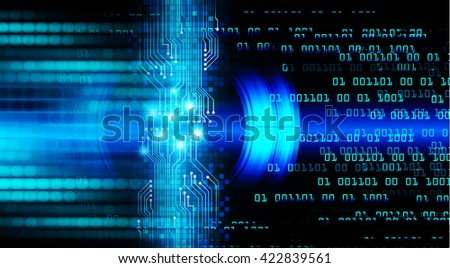 blue abstract light hi speed internet technology background illustration, Background conceptual image of digital. eye scan virus computer. motion move graphic.
