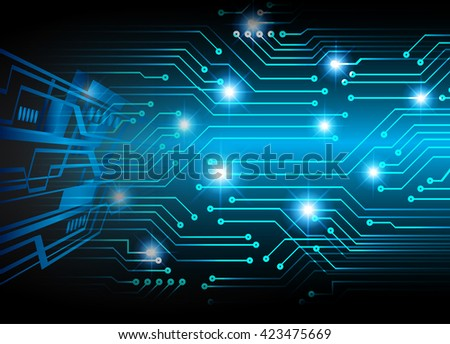 blue abstract light hi speed internet technology background illustration, Background conceptual image of digital. eye scan virus computer. motion move graphic - stock photo