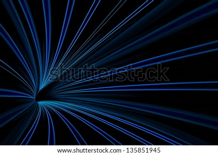 Blue abstract line light with dark background