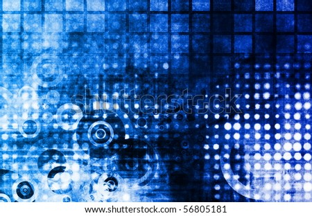 Blue Abstract Modern Grunge as a Background - stock photo