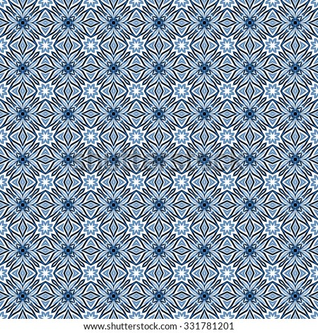 blue abstract ornamental pattern
