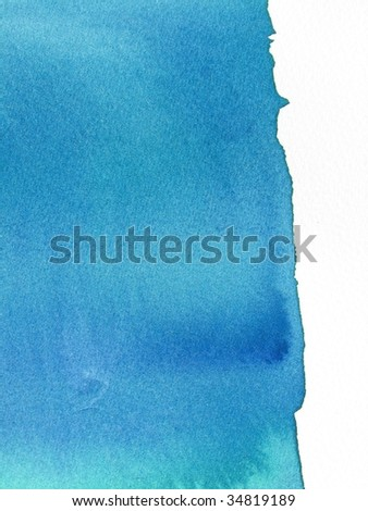 Blue abstract paint background - stock photo