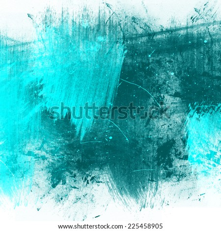 Blue abstract painting grunge style - stock photo