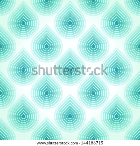 Blue abstract pattern with falling water drops. Raster version of the vector image - stock photo