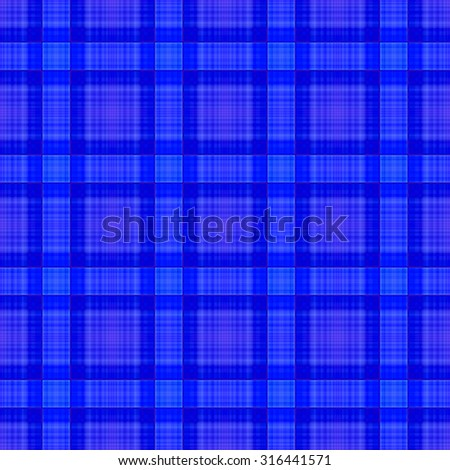 blue abstract seamless tartan textile pattern or background