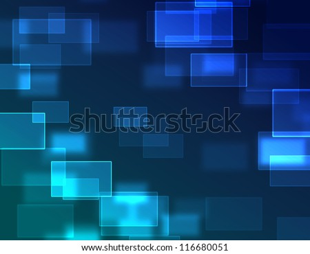 blue abstract square