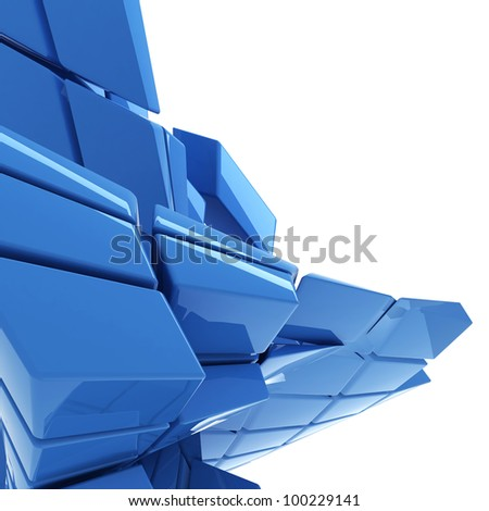 blue abstract technology background with copy space - stock photo