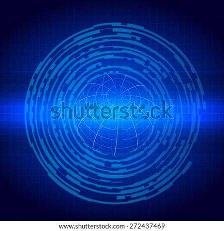 Blue Abstract Technology circuit background