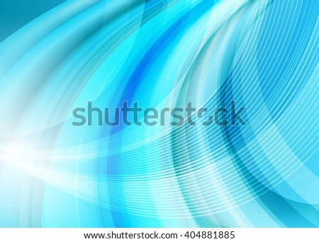 Blue abstract template for card or banner. Metal Background with waves and reflections. Business background, silver, illustration. Illustration of abstract background with a metallic element - stock photo