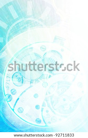 blue abstract time conceptual background - stock photo