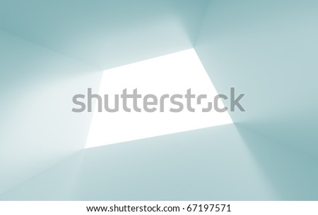 Blue Abstract Tunnel - stock photo