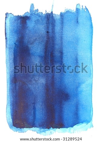blue abstract watercolor background - stock photo