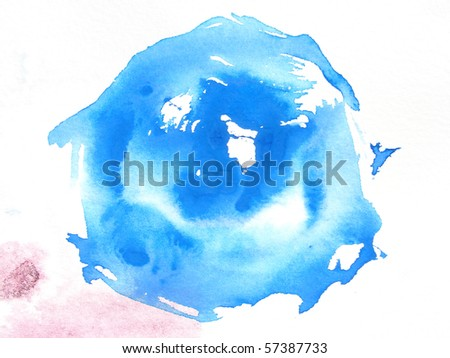blue abstract watercolor background design - stock photo