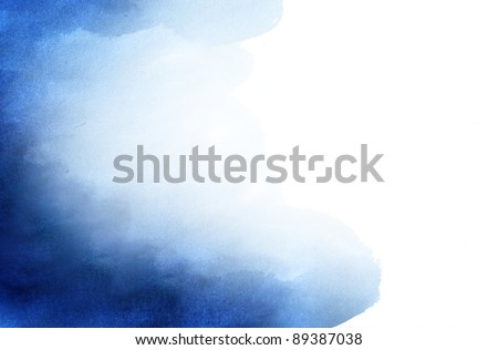 Blue abstract watercolor background with space for your own text