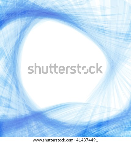 Blue abstract wave techno background frame space for text - raster