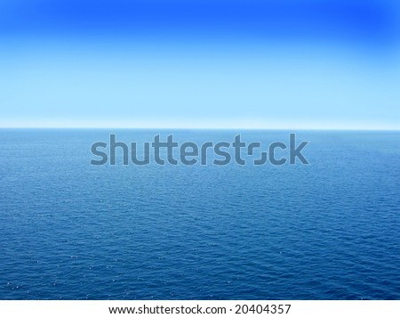 blue adriatic water seascape abstract background - stock photo