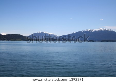Blue Alaskan Waters - stock photo