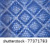 Blue Alligator skin with stitched rectangles. Useful as texture or background - stock photo