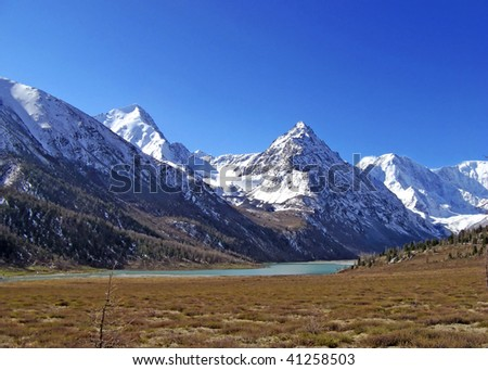 blue alps - stock photo