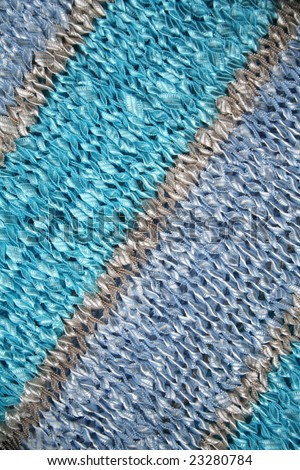 Blue and azure knitted fabric can use as background