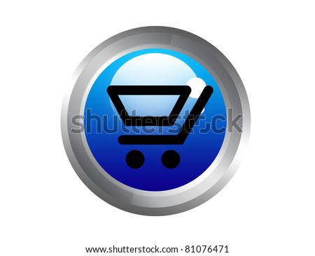 blue and black buy now button with gray edge isolated over white background