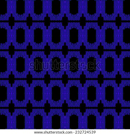 blue and black knitted geometry background for your design