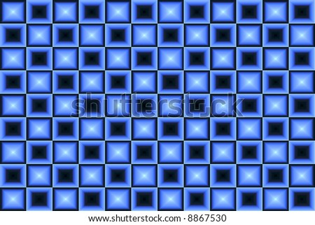 Blue and Black Square  Background