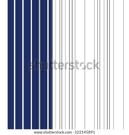 Blue and black vertical stripe pattern on white background - stock photo