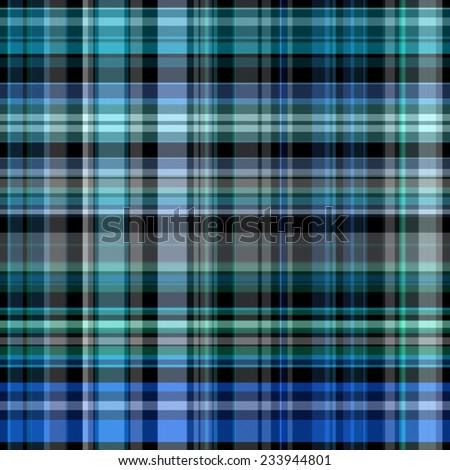 blue and dark Tartan seamless background - stock photo