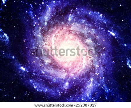 Blue and Gold Supernova - Elements of this Image Furnished by NASA - stock photo