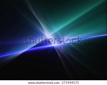 blue and green abstract night light lines party - stock photo