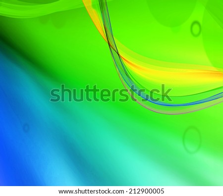 Blue and green background  - stock photo