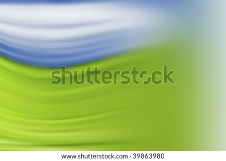blue and green background for banner