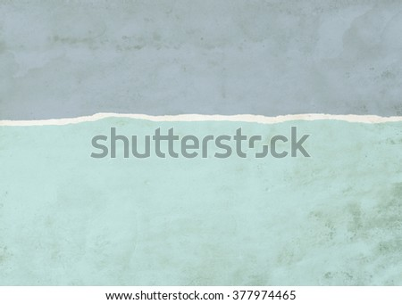 Blue and green dirty stained ripped paper background