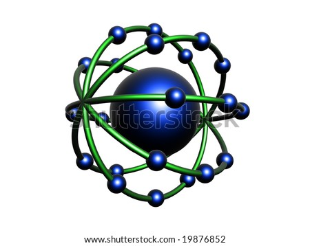 Blue and green molecule