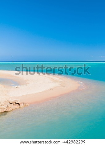 Blue and green Sea  - stock photo