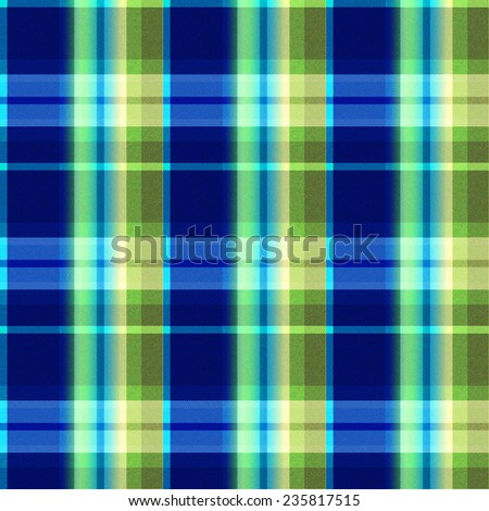 blue and green Tartan seamless background - stock photo