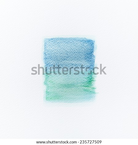 Blue and green watercolor background - stock photo