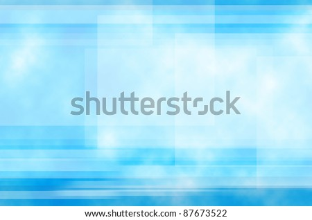 Blue and Line background of abstract - stock photo