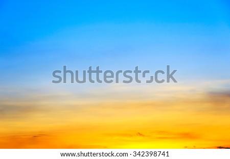 blue and orange sky  - stock photo