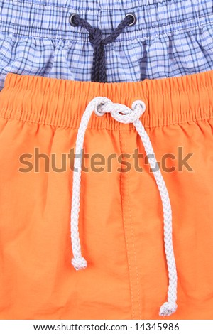 blue and orange swimming shorts - clothing