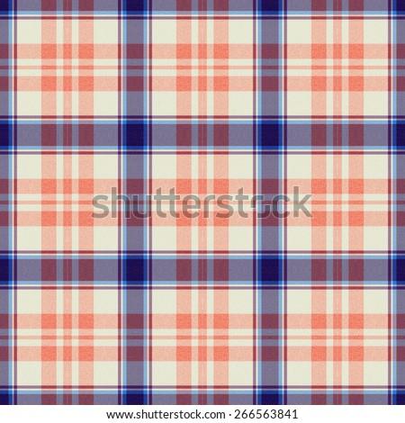 blue and orange Tartan textile seamless background  - stock photo