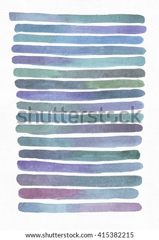 Blue and purple illustration, cool and branding freehand texture based on watercolor gradient stripes, blue, aqua, teal and purple. Large, grainy, bright, with imperfections, good for presentations.