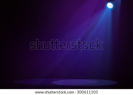 Blue and purple stage light background