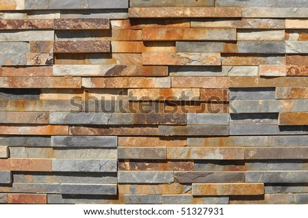 Blue and Red Modern Slate Stone Background - stock photo