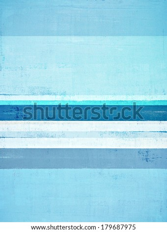 Blue and Turquoise Abstract Art Painting - stock photo